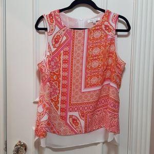 🛍️Pink and Orange pattern tank top
